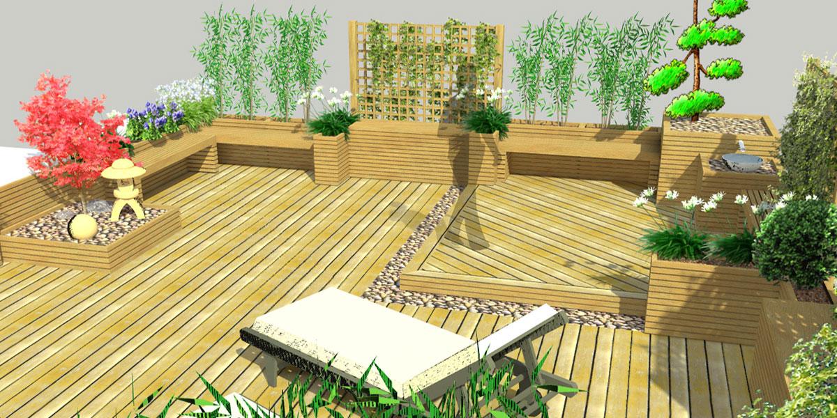 Etude d'une terrasse paysagiste à Pau