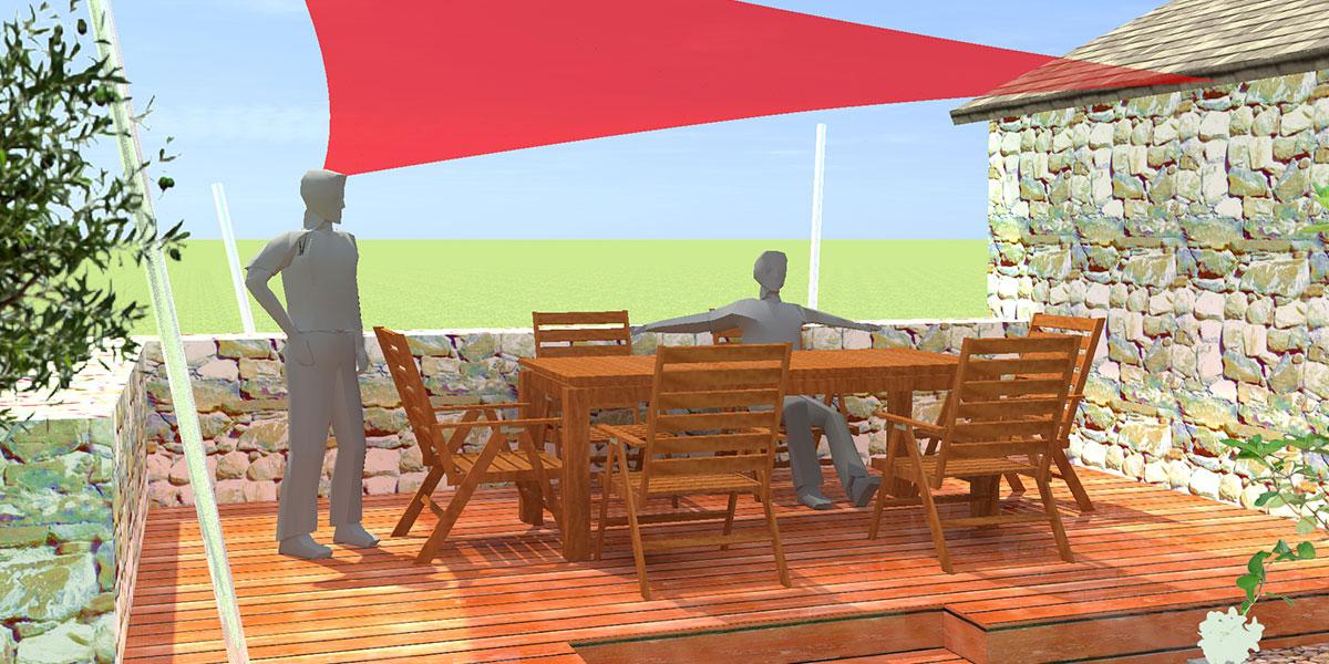 Etude d'une terrasse à Pau