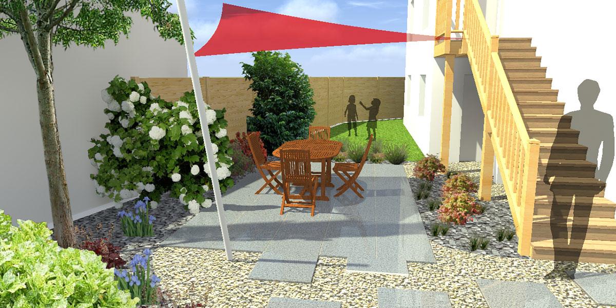 Etude d'une terrasse et d'un jardin à Pau