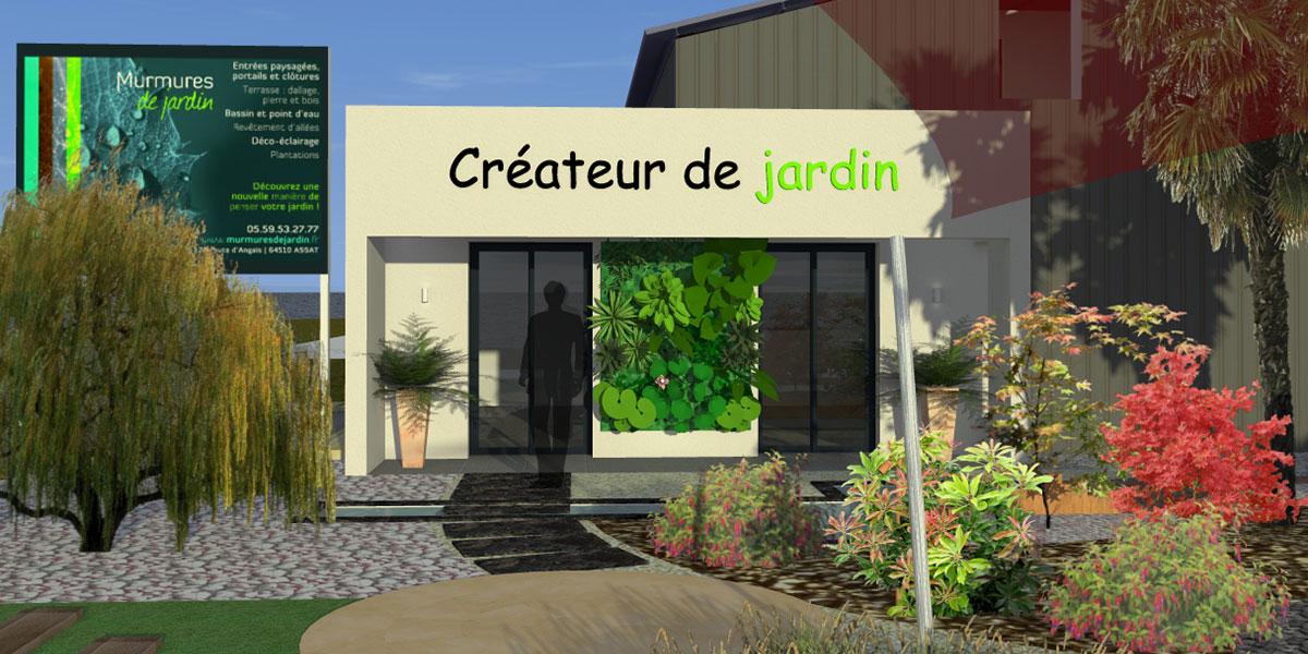 Etude de paysagiste d'un jardin à Pau