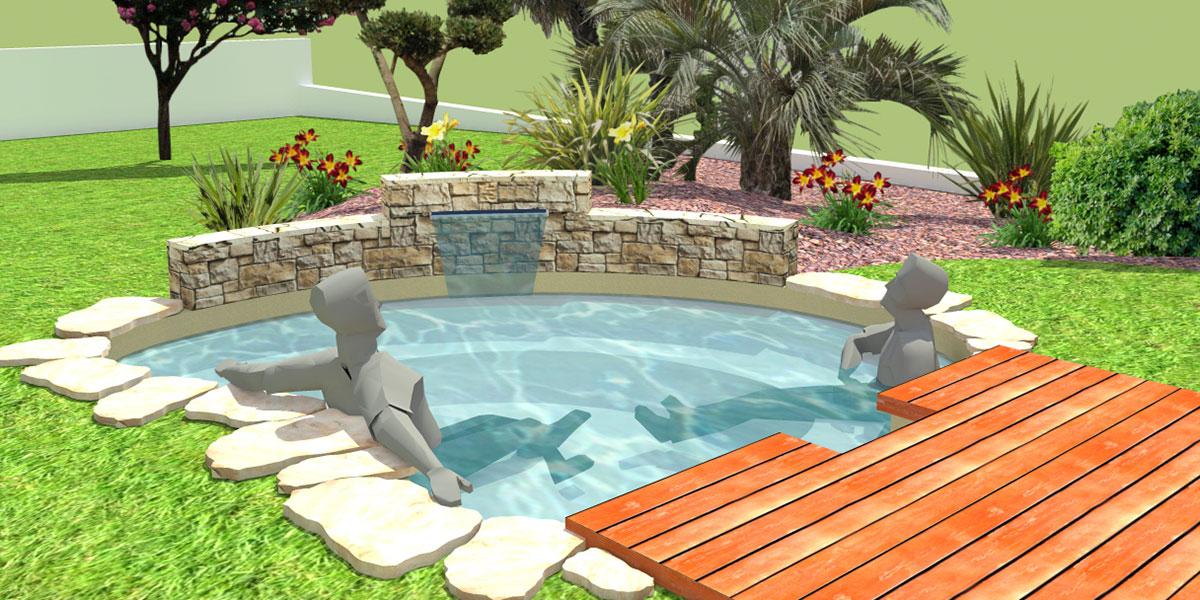 Etude d'un bassin et d'une terrasse à Siros