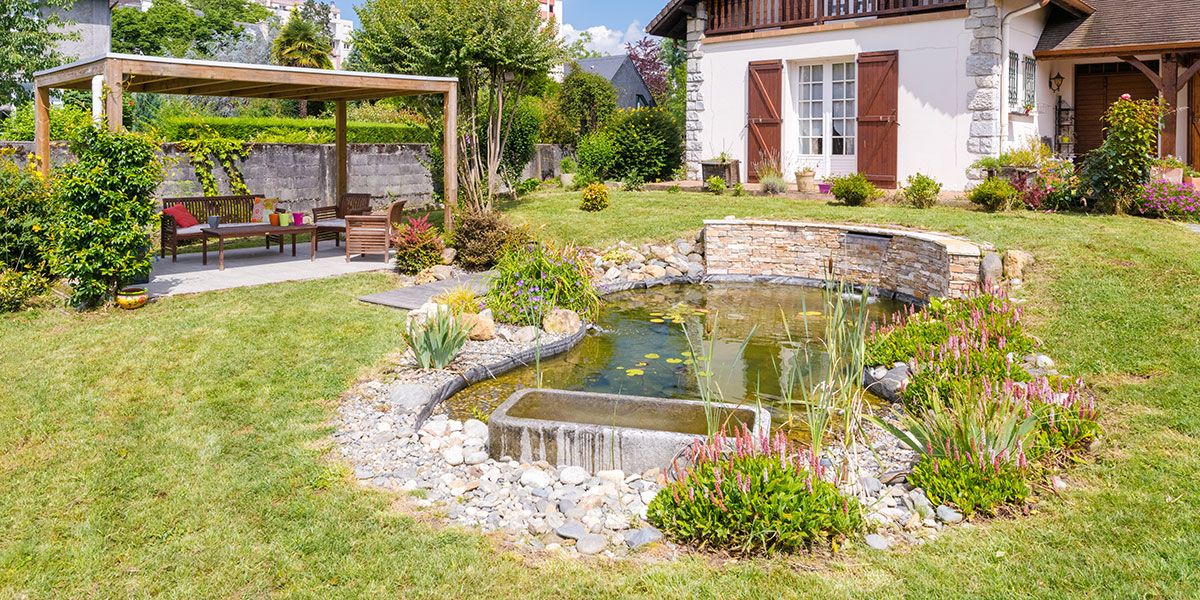 Aménagement bassin paysagiste Pau